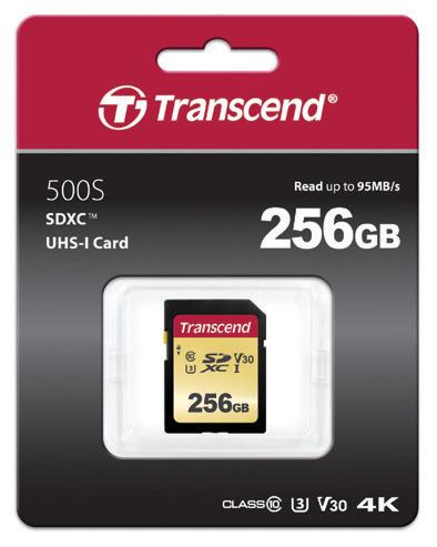 การ์ดหน่วยความจำแบบ SD และ microSD ซีรีย์ 500S และ 300S