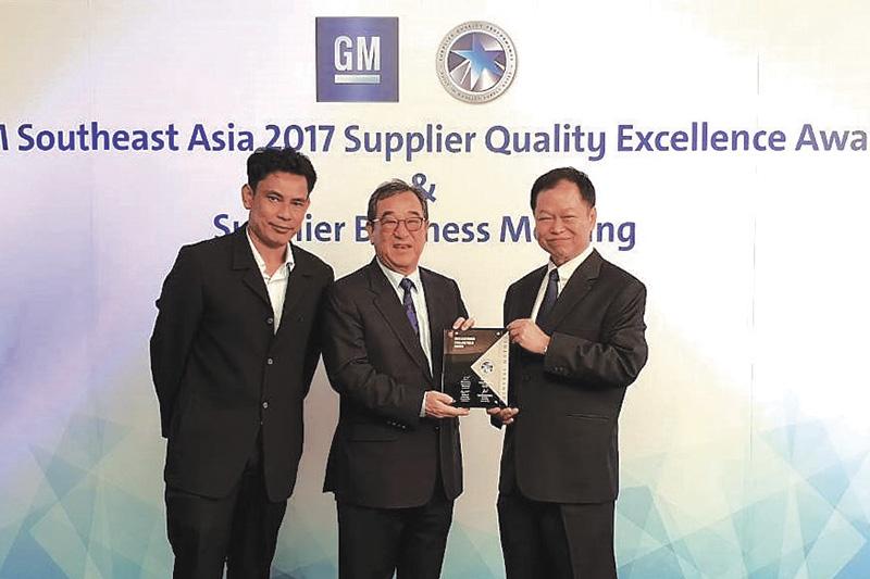 เดลต้า รับรางวัลจาก GM ด้านผู้ผลิตชิ้นส่วนคุณภาพยอดเยี่ยม ปี 2560