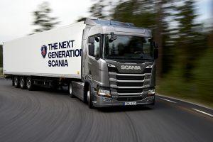 Scania R 410 4x2 box semitrailer