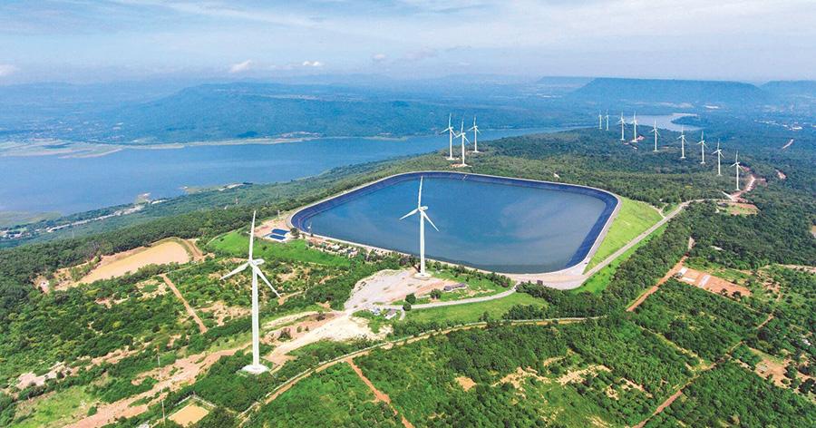 การผลิตไฟฟ้าจากกังหันลม (Wind Hydrogen Hybrid)