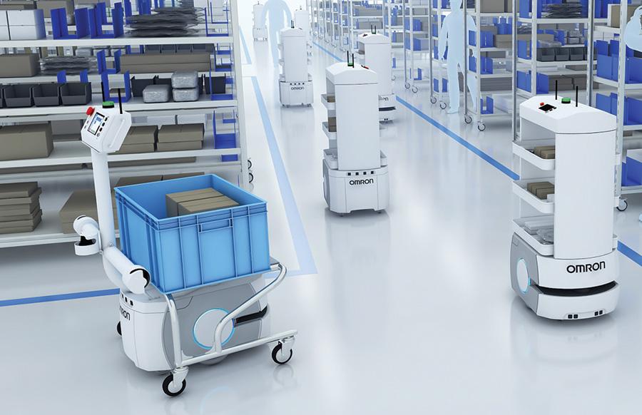 OMRON SOMRON Smart Factory (Robot + IoT + AI)mart Factory (Robot + IoT + AI)