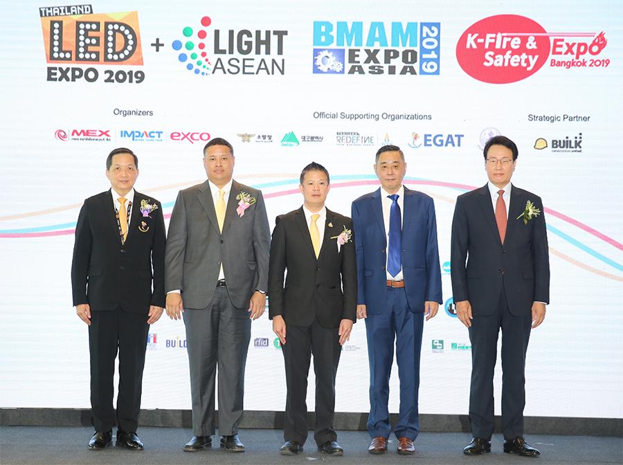อิมแพ็คเปิดตัวยิ่งใหญ่จัดงาน BMAM Expo Asia, K-Fire & Safety Expo Bangkok, และLED Expo Thailand + Light ASEAN