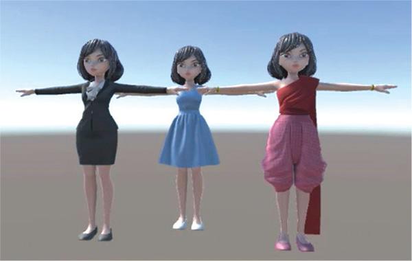 JibJib ถูกนำเสนอด้วยลักษณะของ 3D Avatar