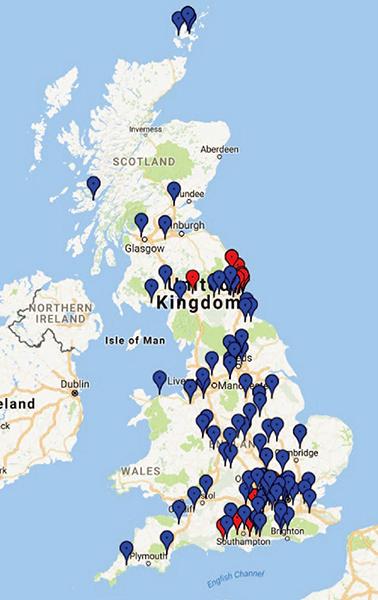 ต่ำแหน่งของ EV ภายใต้โครงการ MEA (ด้านเทคนิค : สีแดง และด้านสังคม : สีน้ำเงิน)