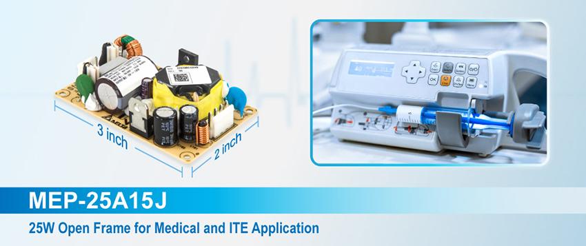 "New 25W 2"" x 3"" Medical Power Supply"