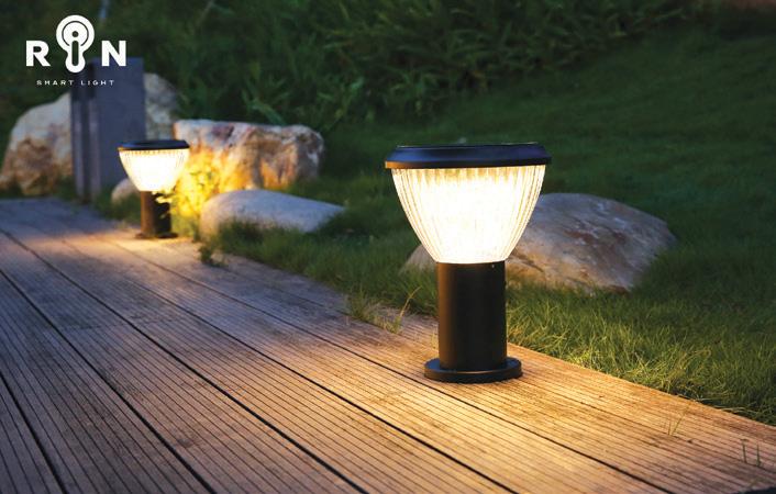 ไฟหัวเสาโซลาร์ LED 5W ริน