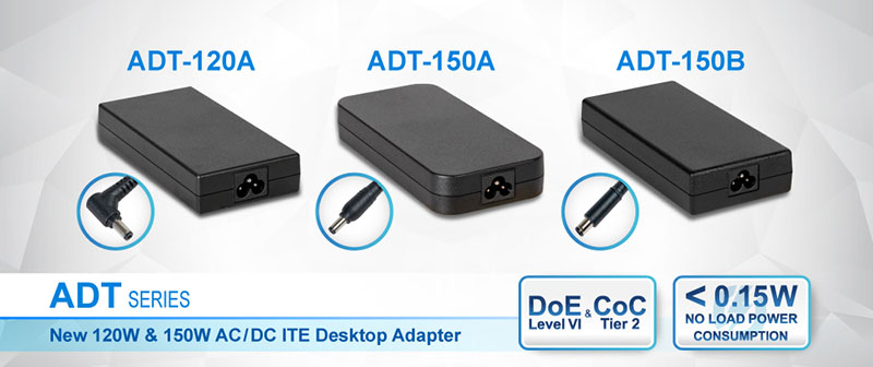 Delta Releases 120W & 150W AC/DC Desktop Adapters for Industrial Equipment