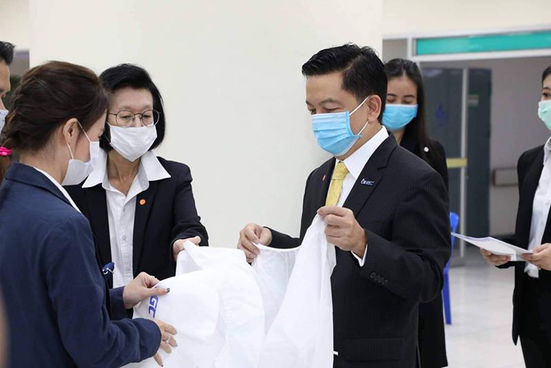 GC ร่วมคณะแพทย์ นมร.พัฒนาโมเดลชุด PAPR 100 ชุด ดึงนวัตกรรมพลาสติกผลิตชุดเซฟหมอ-พยาบาลติดเชื้อโควิด-19
