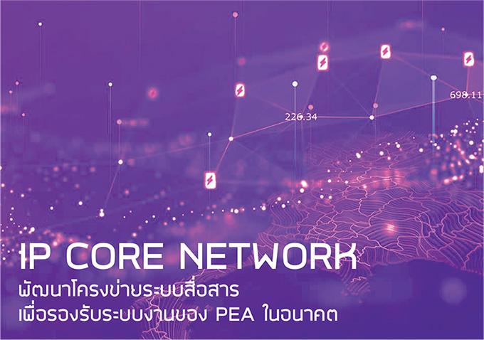 IP Core Network พัฒนาโครงข่ายระบบสื่อสาร เพื่อรองรับระบบงานของ PEA ในอนาคต