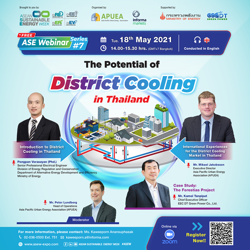 Free Webinar - The Potential of District Cooling in Thailand