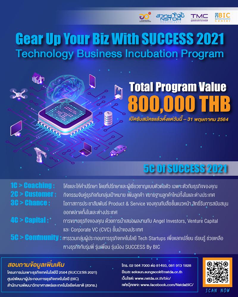 โครงการบ่มเพาะธุรกิจเทคโนโลยี ปี 2564 สร้างรากฐานความแข็งแรงให้ธุรกิจ