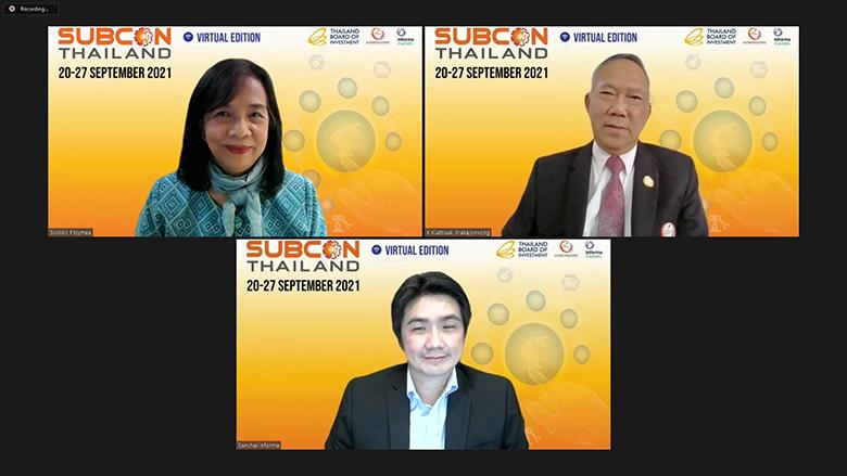บีโอไอ Thai SUBCON และอินฟอร์มา มาร์เก็ตส์ ประเทศไทย เตรียมจัดงาน SUBCON Thailand Virtual Edition